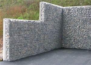 Mur De Soutenement En Gabion : murs et sout nement parement gabion ~ Melissatoandfro.com Idées de Décoration