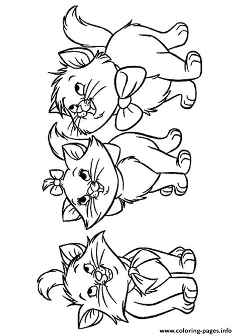 orphan kittens kitten coloring pages printable