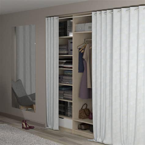 dressing ferme par un rideau cacher le d 233 sordre 224 moindre frais 4murs