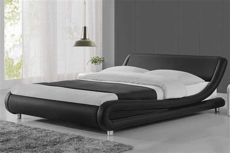 wooden king headboards madrid modern curved designer bed black faux