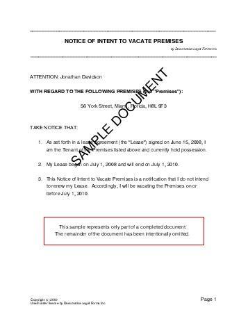 notice  intent  vacate premises mexico legal