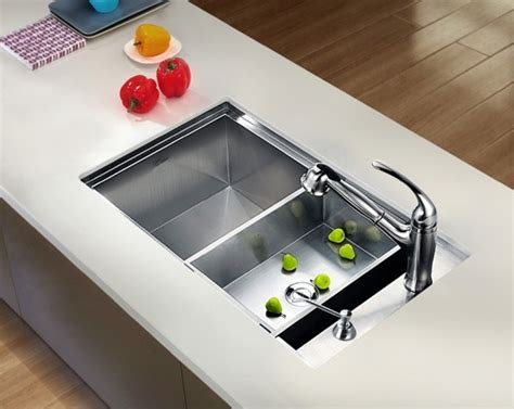 contemporary kitchen sinks undermount undermount square single bowl sink with side drain 5731