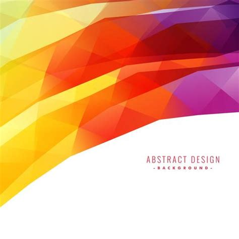 Abstract Wallpaper Background Design by Colorful Abstract Background Design Free Vector
