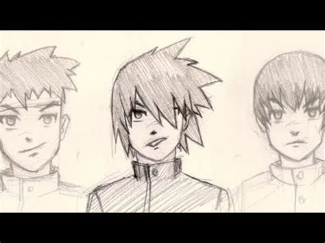 draw manga hair   styles male youtube