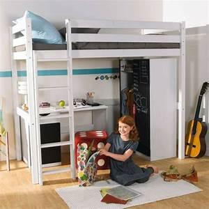 Lit En Hauteur Enfant : lit mezzanine la vedette de la chambre coucher ~ Preciouscoupons.com Idées de Décoration