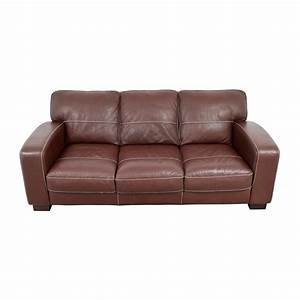 Sofa bobs furniture living room atlas leather sofa bobs for Bob s leather sectional sofa