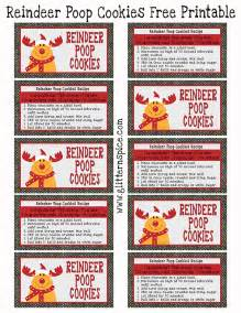 christmas gift bags reindeer cookies recipe and free printable glitter