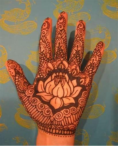 Lotus Mehndi Designs Henna Tattoo Flower Hand