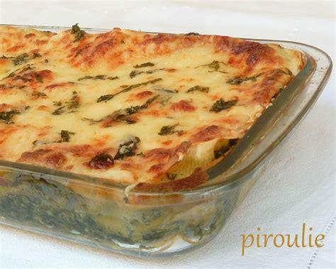 cuisiner epinard en boite lasagnes aux épinards et à la béchamel pâtisseries et