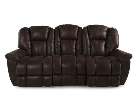 La Z Boy Sofa by La Z Boy Maverick Sepia Reclining Sofa Mathis Brothers