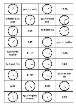 time dominoes oclock   quarter topast