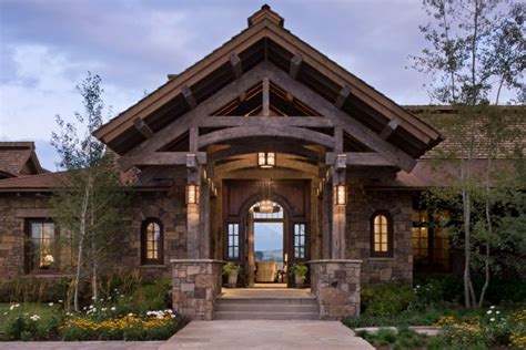 inviting rustic entry designs   winter