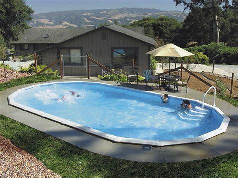 Deck Around Intex Pool by Inground Pools The Poolyard