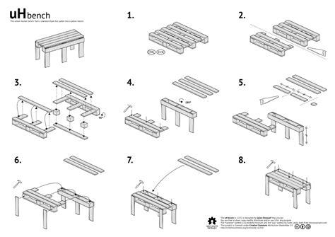 pallet bank bouwtekening tuinbank pallets houten bankje zelf maken