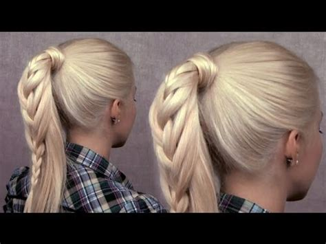 braided ponytail hairstyle cute everyday french braid