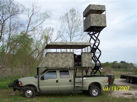 hunting truck for sale critter gitters dually scissor lift hunting platform