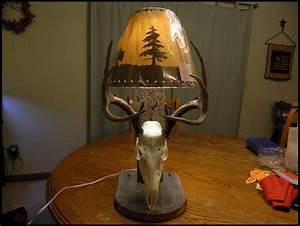 Deer Skull Lamp