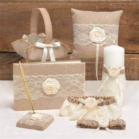 burlap country wedding collection set