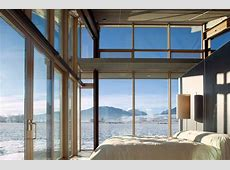 Bedroom, FloortoCeiling Windows, Glass Farmhouse in