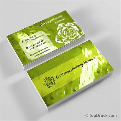 Visitenkarten Gartengestaltung Topdruck Produkte Startseite