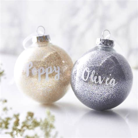 personalised glitter bauble christmas crafts