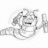 Inchworm Coloring Cartoon Printable Designlooter Jellyfish sketch template