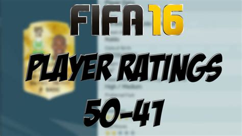 Fifa 16  Top 50 Player Ratings  5041 Youtube