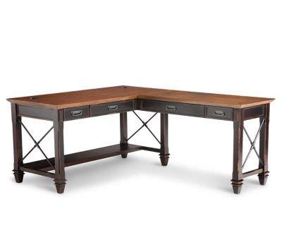 hartford open  shaped desk furniture row