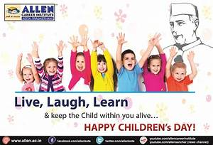 Happy Children's Day - My Exam : EduBlog of ALLEN Career ...