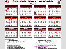 GAtos Sindicales [MAD] Calendario laboral 2013 Madrid
