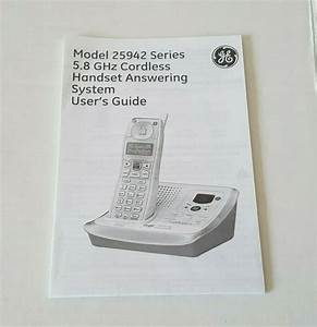 Ge 5 8 Ghz Cordless Handset Answering System Model 25942