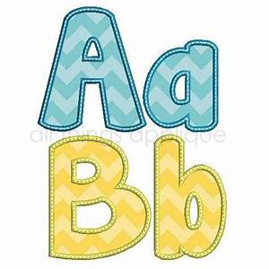 happy applique alphabet 26 letters upper and lower 3 With applique alphabet letters