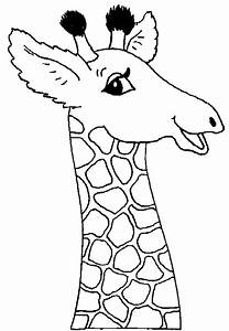 Free coloring pages of baby giraffe