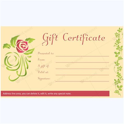 spa  saloon gift certificate templates images
