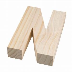 775quot chunky wooden letter n 9190 692n craftoutletcom With chunky wooden letters