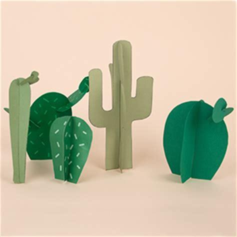 diy et printables gratuits les cactus en papier
