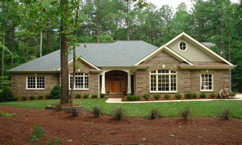 brick home ranch style house plans modern ranch style