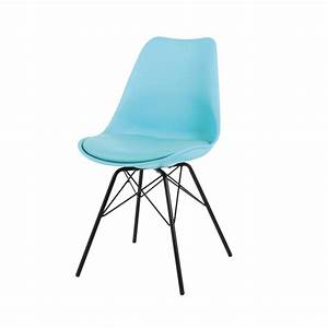 Chaise En Polypropylne Et Mtal Bleue Coventry Maisons