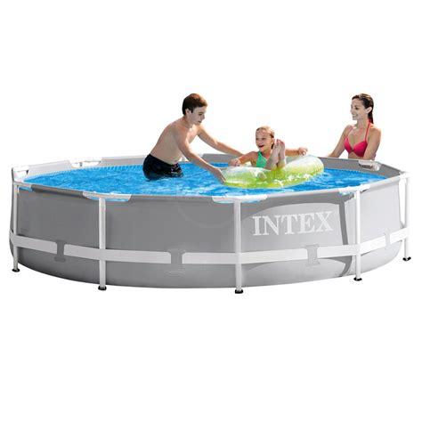 pool mit pumpe intex frame pool swimming pool mit pumpe 305x76cm schwimmbecken stahlrohrbecken ebay