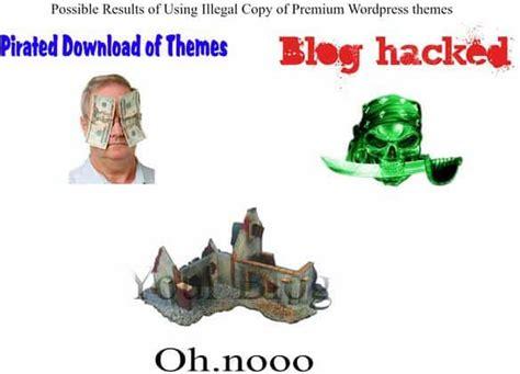 hacked wordpress themes harms  blog
