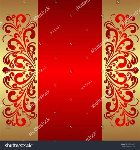 elegant red background royal borders stock vector