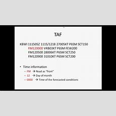 How To Read A Taf Youtube