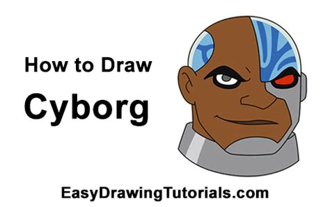 How To Draw Cyborg (teen Titans