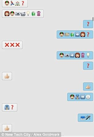 emoji toilet paper whatsapp couple text using only emojis for a month daily mail online