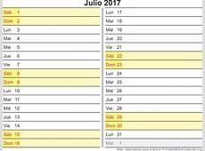 imprimir calendario julio 2017 Calendarios Para Imprimir