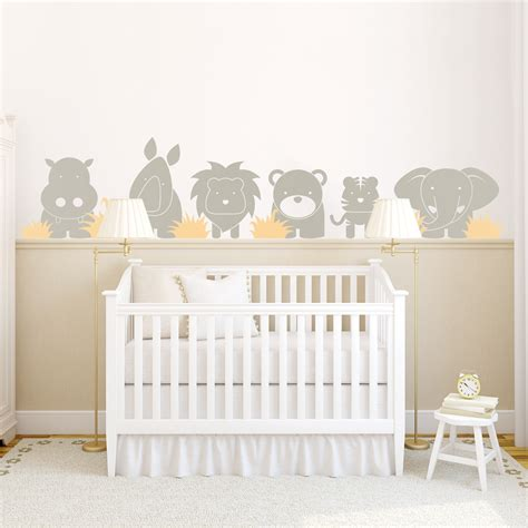 chambre bebe jungle zoo babies wall decal