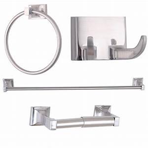 Bathroom hardware sets brushed nickel with original images for Bathroom hardware sets brushed nickel