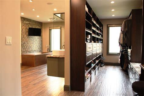 walk in closet and bathroom ideas interior exterior
