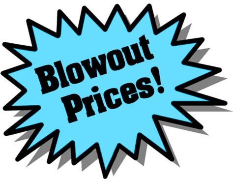 great deals on blowout prices left blue office sale promo burst blue