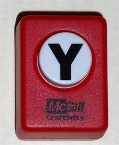 Mcgill craftivity paper punch letter y upper case capital for Letter m paper punch